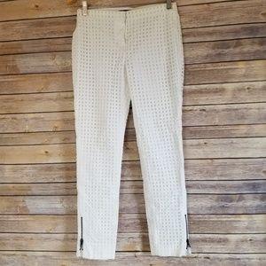 Vintage ELIE TAHARI womens sz 2 White Honeycomb